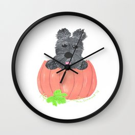 SO WHERE'S THE PIE - Scottish Terriers Wall Clock