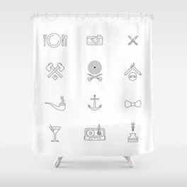 Hipster's Day Shower Curtain