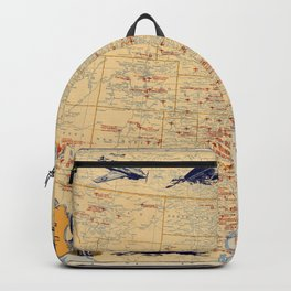 American Military Posts 1944 Backpack