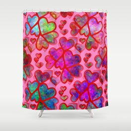 Heart Collage - Happy Valentines Day Shower Curtain