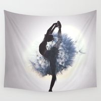 dancer Wall Tapestries featuring Dancer by Judy Hung