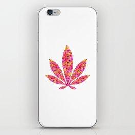 Flowering Ganja Leaf iPhone Skin