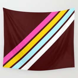80's Style Retro Stripes Wall Tapestry