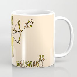 sagittarius wild horses retro zodiac art by surfy birdy Coffee Mug