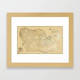 Map Of Key West 1906 Framed Art Print