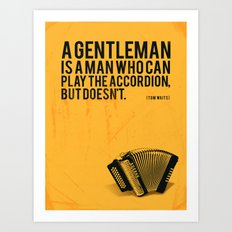 Definition of a Gentleman Art Print