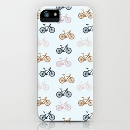 Bike pattern iPhone Case