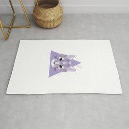 Geometric Cat Rug