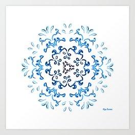 """Hakakā a hohonu"" (lucha profunda en verano) Art Print"