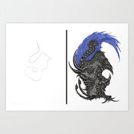 Scribble Drawing: Urchin Art Print