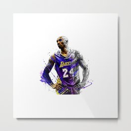 The Great Player in 24 Metal Print