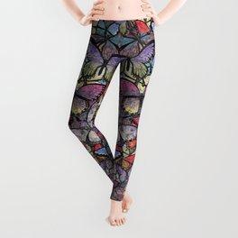 butterflies aflutter colorful version Leggings