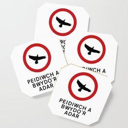 DO NOT FEED THE BIRDS Coaster