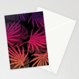Plam Leaves Monstera pink violet Stationery Cards