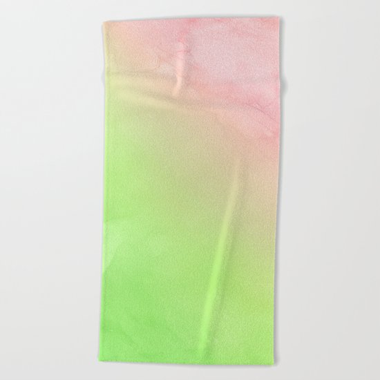 Greenery and Rose Quartz Beach Towel