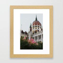 Budapest parliament / Europe / Art deco architecture Framed Art Print