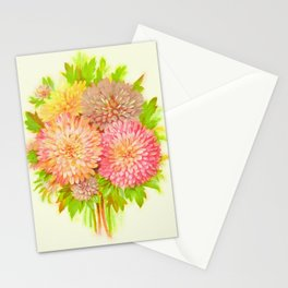 Vintage flowers watercolor painting #5 Stationery Cards
