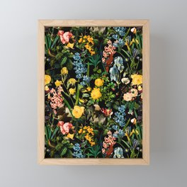 FLORAL AND BIRDS V Framed Mini Art Print