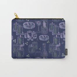 Wine and Candles - blue Carry-All Pouch