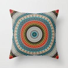 floral hearts mandala Throw Pillow