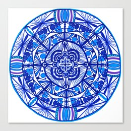 Blue sky mandala Canvas Print