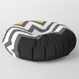 Color Blocked Chevron 6 Floor Pillow