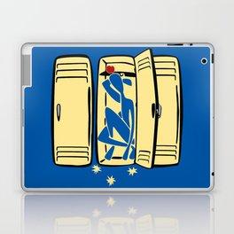 Blue (is shoved in a locker) Laptop & iPad Skin