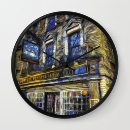 The Prospect Of Whitby Pub Art Wall Clock