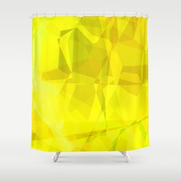 Pale Yellow Poinsettia 1 Abstract Polygons 3 Shower Curtain