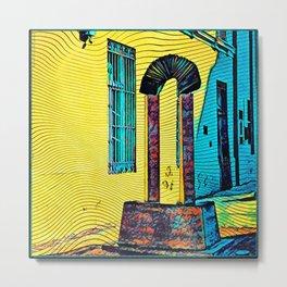 Bandoneon Statue Arch in Abasto Buenos Aires Metal Print