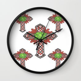 crystal celtic cross Wall Clock