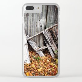 Autumn Fencing Clear iPhone Case