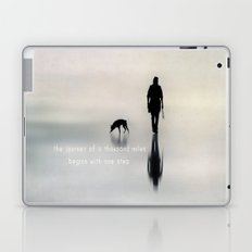 man and dog Laptop & iPad Skin