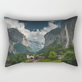 Lauterbrunnen Valley Rectangular Pillow