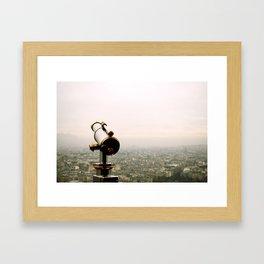 Paris in the Fog Framed Art Print