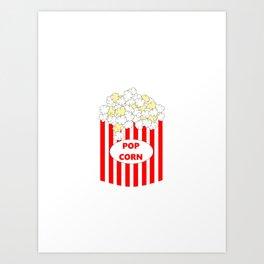 Box Of Popcorn Art Print