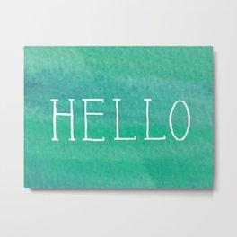 Hello Mint Metal Print