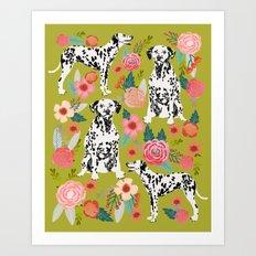 Dalmatian pet friendly dog art customized pet portrait must have gifts for dalmatian owners fur baby Art Print