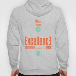 Lab No. 4- Aristotle Quote motivational typography Quote Poster Hoody