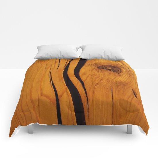 Wooden texture Comforters