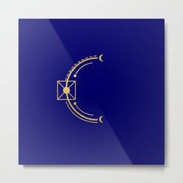 Sacred Geometry Letter C Metal Print
