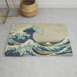 Great Wave Off Kanagawa (Kanagawa oki nami-ura or 神奈川沖浪裏) Rug