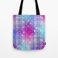 grid Tote Bags featuring Grid by Christine baessler