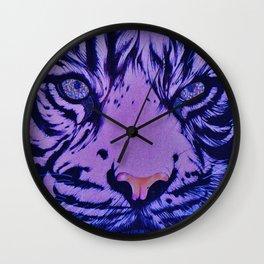 Rainbow Eye of The Tiger : Blue Topaz Wall Clock