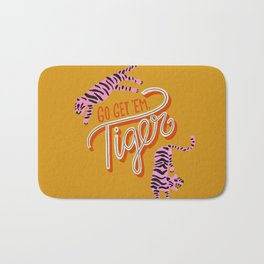 Go Get 'Em Tiger – Yellow Palette Bath Mat