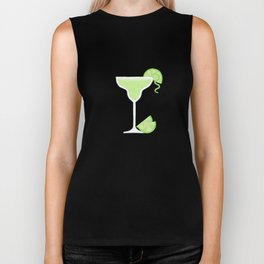Making Pour Decisions with Margarita Glass Biker Tank