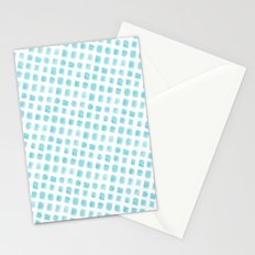Watercolor Squares Blue Stationery Cards