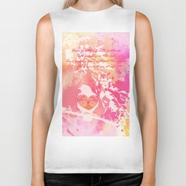 Hope is a Thing With Feathers Biker Tank