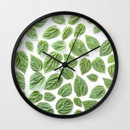 Leaves pattern (28) Wall Clock