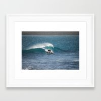 surfer Framed Art Prints featuring Surfer by MapMaster